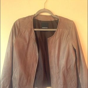 Like New Brown/Tan Real Leather Jacket from Trouve